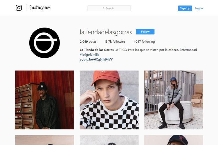 Tienda gorras online en Instagram