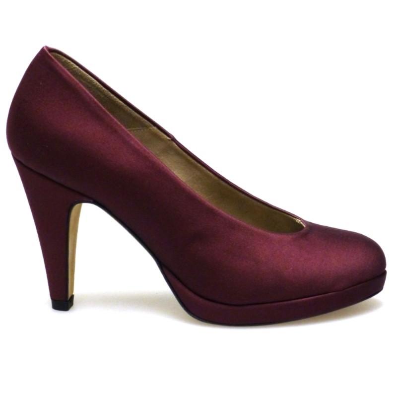 Zapato Tacón Granate Paco Gil