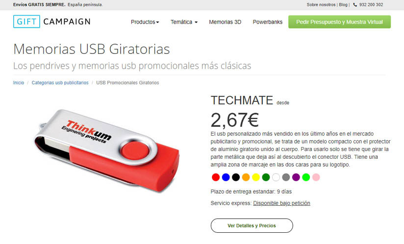 Tienda online usbpersonalizado.es
